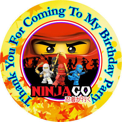 12 Ninjago Birthday Party Favor Stickers (Bags Not Included) #1
