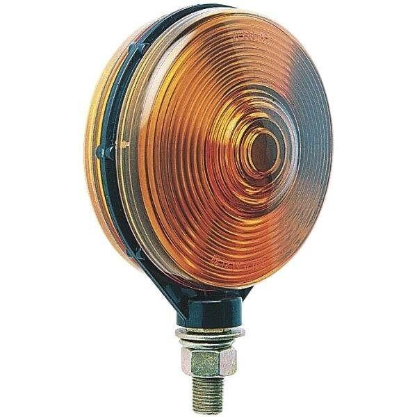(2 PACK)  Round Pedestal Dual Face Truck Trailer Turn Signal  Amber Light