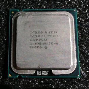 Intel Core 2 Duo CPU E8200 (6M Cache, 2.66GHz, 1333MHz FSB, 775)