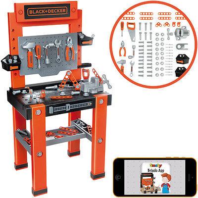 Smoby Black & Decker Werkbank Bricolo One für Kinder Kinderwerkbank Werkstatt