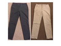 2 x pairs of new Zara ladies trousers size 8