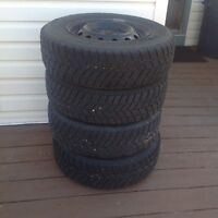 """14"""" winter tires with rims for sale"""