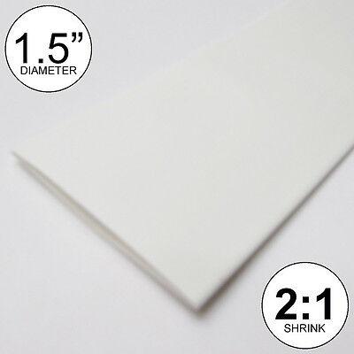 1.5 Id White Heat Shrink Tube 21 Ratio 1-12 Wrap 10 Feet Inchftto 40mm