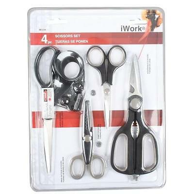 NEW OLYMPIA 88-234 4 PIECE STAINLESS STEEL DELUXE GENERAL PURPOSE SCISSOR SET