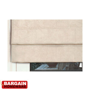 EASY FIT FAUX SUEDE ROMAN BLINDS - MANY COLOURS & SIZES AVAILABLE