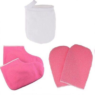 Paraffin Wachs Bad Terry Tuch Handschuh Booties, Wachs Hautpflege ()