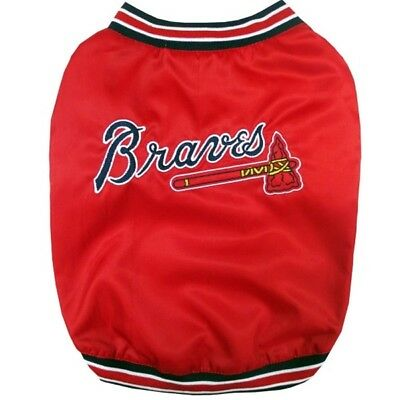 - Atlanta Braves MLB Pets First Pet Dog Dugout Jacket Red Sizes S-L