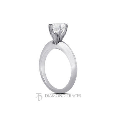 4.37ct F-SI3 Round Natural Diamond 14k Classic Solitaire Engagement Ring - $9,162.00