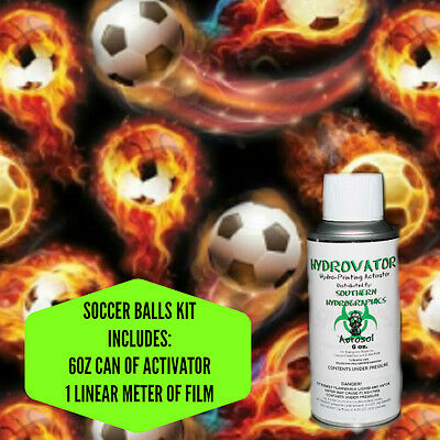 HYDROGRAPHIC FILM WATER TRANSFER HYDRO DIP 6OZ. ACTIVATOR SOCCER BALLS KIT