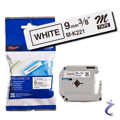 BROTHER M-K221 Band schwarz auf weiß 9mm x 8m f. P-touch 80 85 90 110 BB4 MK221