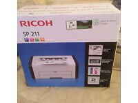 Ricoh sp211 mono laser printer brand new