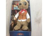 Two meerkat toys in vgc -Yakov and batman