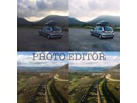 PHOTO EDITOR AND ADVERTISER WITH EXPERIENCE