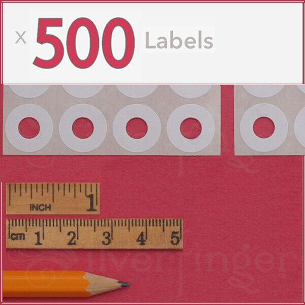 500ct Paper Hole Reinforcements — Label Sticker Binder Ring Punch Hole Protector