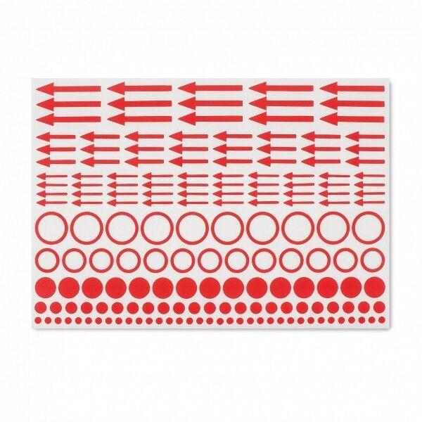 Leuchtturm Kennzeichnungs-Etiketten mit Punkten, Kreisen und Pfeilen, 10er-Set