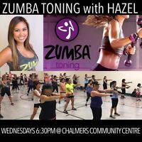 Last chance for 50% off Zumba Toning Classes with Hazel!