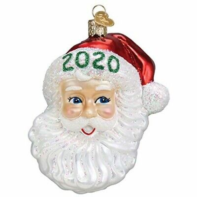 Old World Christmas 40309 Glass Blown 2020 Nostalgic Santa Ornament