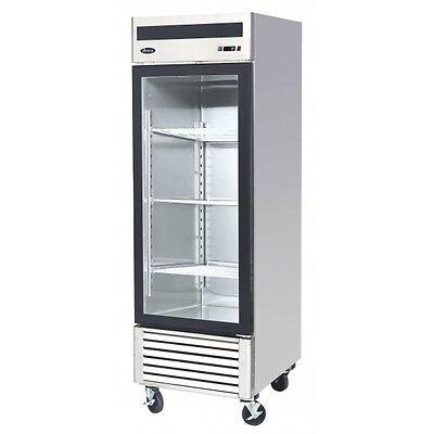 Atosa Mcf8705 Glass Door Merchandiser Stainless Steel Commercial Refrigerator