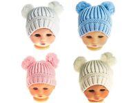 Double Pom Pom hats