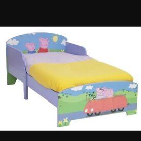 Peppa pig wooden toddler bed