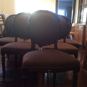 Rare set of 8 French style oval back chairs Cambridge Kitchener Area image 1