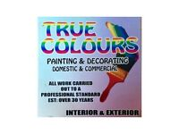 TRUE COLOURS PAINTING & DECORATING SERVICE ~ PAINTER DECORATOR