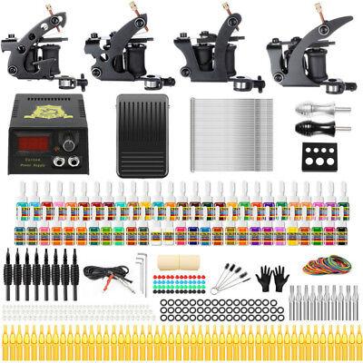 - Solong Tattoo Complete Tattoo Kit 4 Machine Gun 54 Ink Needle Power Supply TK457