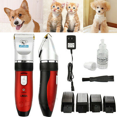 Clippers Professional Pet Hair Grooming Cordless Electric Quiet Trimmer cat dog