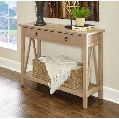 Entryway Console Table Rustic Narrow Wood Accent Tables For Hallway Living Room
