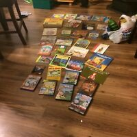 Kids DVDs and book lot