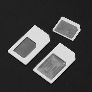 Convert Nano SIM Card to Micro/Standard Adapter For iPhone 5 4S 4 3-PCS
