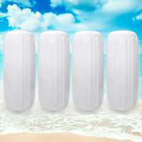 """Center Hole Ribbed Boat Fender 10"""" x 28"""" 4pcs Inflatable Mooring"""