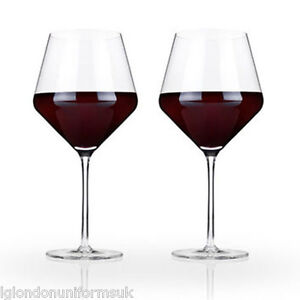 Restaurant red wine Glass glasses Crystal BOHEMIA 620ml BOUQUET 11x24 set of 2