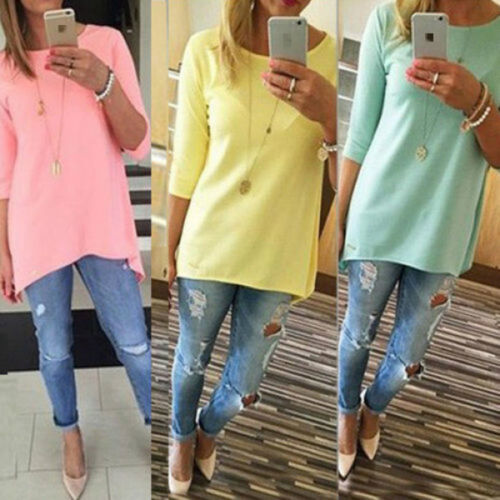 Hot Fashion Womens Loose Pullover T Shirt Long Sleeve Summer Tops Shirt Blouse
