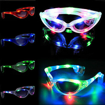 New LED Sunglasses Glasses Rave Light Glow Stick Party Festival Christmas Fun