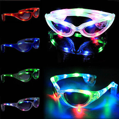 Colorful LED Light Up Glasses Blink Sunglasses Rave Party Xmas Supplies Hot - Xmas Party Supplies