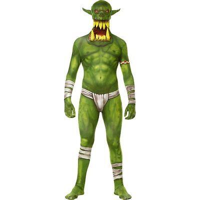 Adult Green Jaw Dropper Orc Morphsuit Morph Suit Adult Premium Original Fancy](Green Morph Suit)