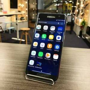 MINT CONDITION SAMSUNG S7 EDGE 32GB BLACK UNLOCKED WARRANTY