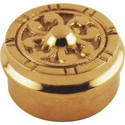 Flush Decorative End Cap - Polished Brass - 2
