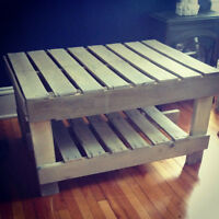 Custom Repurposed Pallet Coffee Tables, Furniture & Living Wall