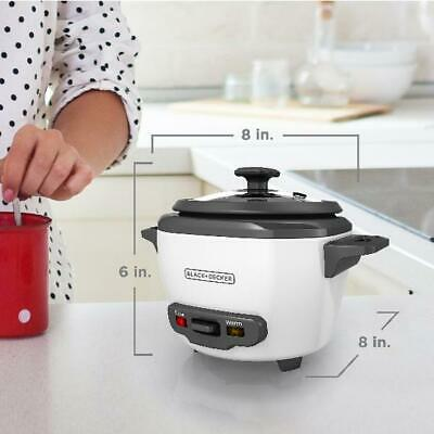 BLACK+DECKER 3-Cup Electric Rice Cooker And Food Steamer War