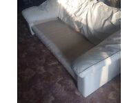3 seat 2 seat Off white sofa free for collection