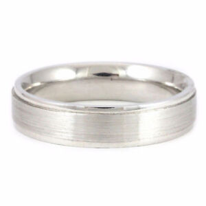 Platinum Gents Band (Size 9.5 Ring) #343