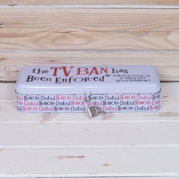 The TV Ban has been enforced Tin with lock fun gift Storage The Bright Side New