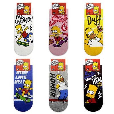 The Simpsons Character 6 Pairs Cartoon Socks Women Big Kids Girl MADE IN KOREA