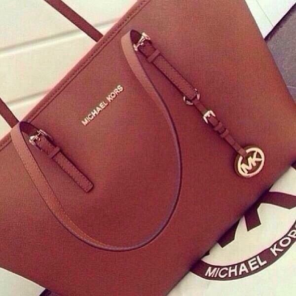 mk tan purse