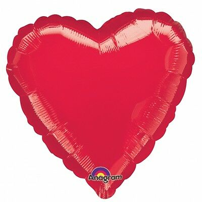 Red Heart Foil Helium Balloons Valentines Day Wedding Engagement Decorations (Red Heart Helium Balloons)