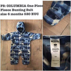 FS: COLUMBIA One-piece Fleece Bunting Suit size 6 months $20 EUC