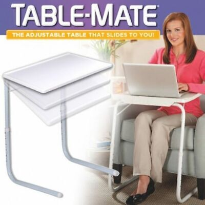 PORTABLE FOLDABLE TABLE MATE DESK HOME OFFICE LAPTOP DINNER ADJUSTABLE PICNIC