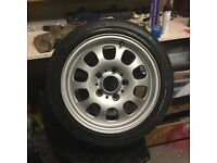 "Pair of E36 15"" Wheels Tyres Only done 150 Miles!"